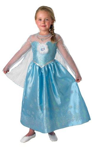 Frozen Eiskönigin Deluxe Kostüm Kinder Karneval Verkleidung Mädchen (Elsa Deluxe Frozen Kostüme)