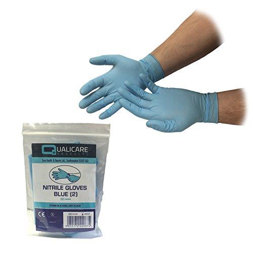 50Paar one size blau blickdicht Nitril Premium Einweg unsteril Medical Erste Hilfe Puder Latex kostenlos Durable Schutz Mehrzweck-Lab Tattoo vet Zahnarzt Mechaniker Medic einzeln verpackt Paar Handschuhe