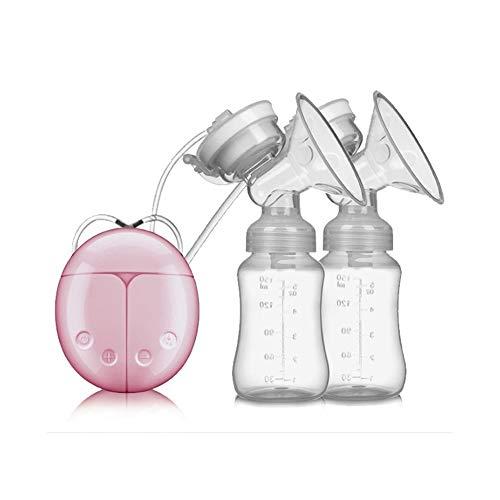 Double Tire-lait Electrique,Pompe d'allaitement Mains Libres Momcozy Pompe de Sein Automatique Silencieux Massage Postpartum Prolactine Rechargeable USB,Pink