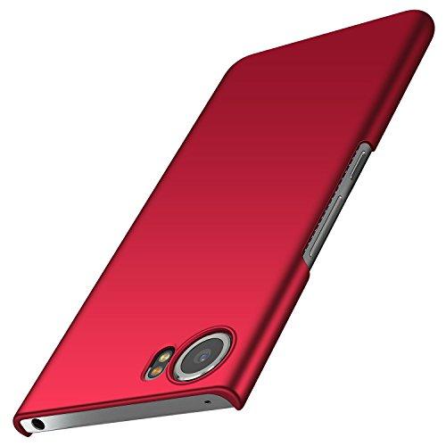 anccer BlackBerry Keyone Hülle, [Serie Matte] Elastische Schockabsorption und Ultra Thin Design für Keyone (Glattes Rot)