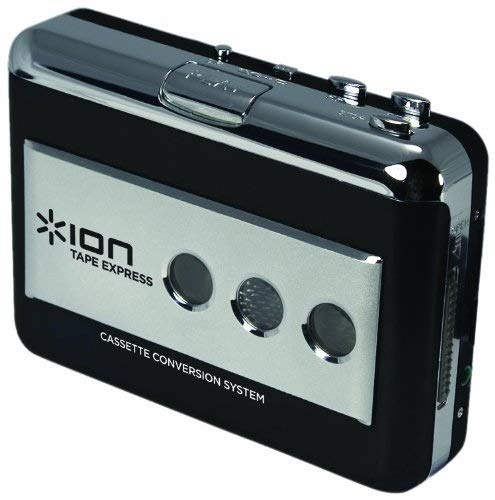 ION Audio Tape Express | Portable Analogue to Digital MP3 Cassette Converter/Player for Mac or PC with Conversion Software Included