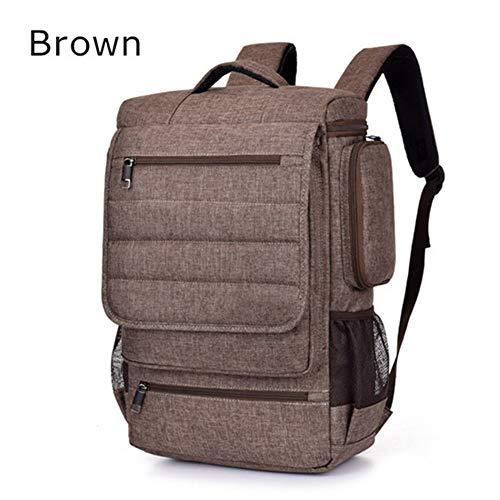 Zkzyc Laptop Rucksack 17 18 Zoll Laptop Umhängetasche Tasche Handtasche Messenger Bag Handtasche Notebook Schulter Computer Tasche (Brown,17 Zoll)