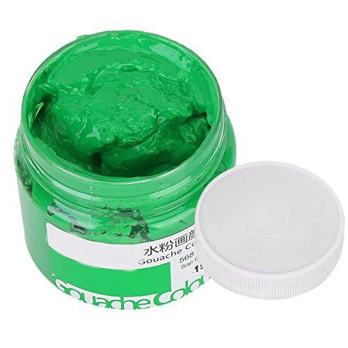 Flasche-pinsel-gras (HEEPDD Aquarell Pigment, 100 ml Hochwertige Bunte Gouache Farbe Mehrfarbenpigmente Hand Zeichnen Material Werkzeuge für Studenten Kunst Malerei Zubehör(Gras-Grün))