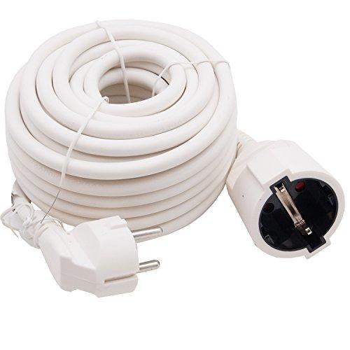 Cable alargador 10m Cable Blanco 3X 1,5mm² plástico línea para interiores Cable...