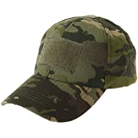 JERKKY Gorra Militar de Camuflaje del ejército Sombrero de béisbol Parche Sombrero Insignia Gancho Brassard Emblema Camo Verde