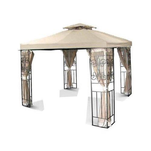 Outdoor-Paraventdach, für Terrasse, Hellbraunes Pavillondach aus Stoff