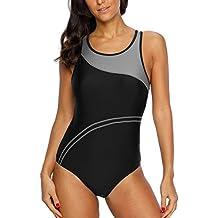 24baa57d8367f CharmLeaks Damen Einteiler Figuroptimizer Sport Badeanzug AirLane