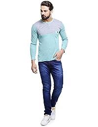 MakeOver Sporty Blue Cotton Slim Fit Jeans For Men
