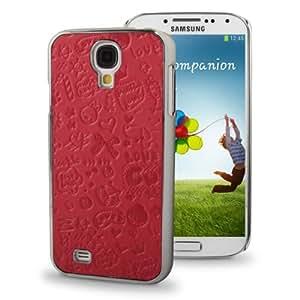 Magic Girl Pattern Plating Skinning Plastic Case for Samsung Galaxy S4 i9500 (Fuchsia)