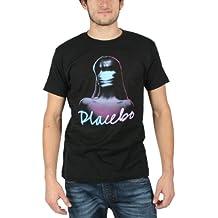 Placebo - Girl Logo Männer Slim Fit T-Shirt in Schwarz
