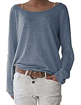 ZIOOER New Arrival Design Damen Pulli Langarm T-Shirt Rundhals Ausschnitt Lose Bluse Hemd Pullover Oversize Sweatshirt...
