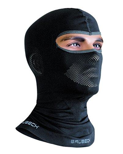 Brubeck Masque cagoule thermique fonctionnel - Moto- + Ski Balaklawa (Cagoule de ski fonctionnelle, Balaklawa, bonnet casque de moto noir/blanc) 1. noir