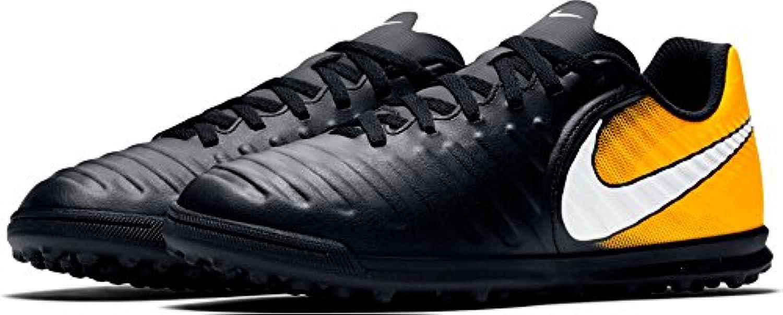 nike jr tiempox rio foot, iv tf chaussures de foot, rio unisexe enfants, Noir  & agrave; (noir / blanc laser orange volt) 175bfe