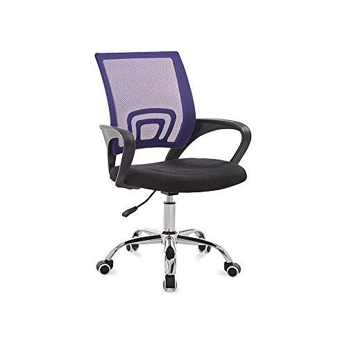 WJJP Computerstuhl,Stuhl aus Mesh mit hoher Rückenlehne Ergonomischer Sitz Drehstuhl,Bürostühle mit Armlehnen und Rückenlehne,mit Lordosenstütze,Höhenverstellung,Atmungsaktiver Netzrücken