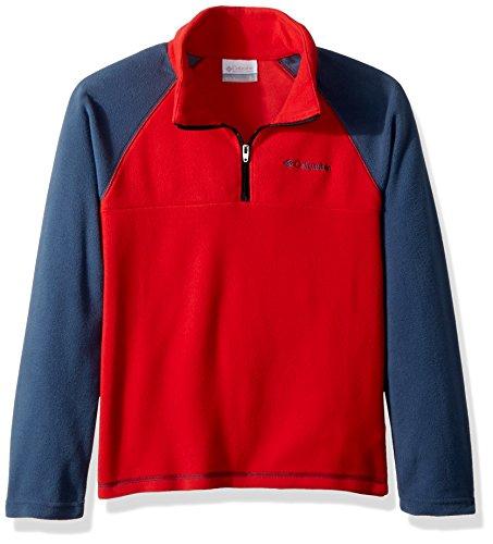 Columbia Sportswear Jungen Glacial Half Zip Fleece Jacket, Red Spark/Dark Mountain, S