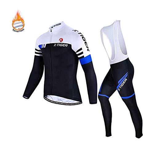 X-TIGER Homme Maillot de Cyclisme Manches Longues...