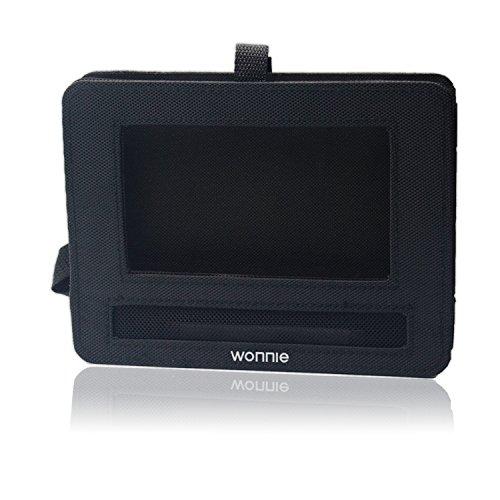 WONNIE Auto Kopfstützenhalterung für Drehgelenk & Flip Tragbarer DVD Player KFZ Kopfstütze Halterung Gehäuse (Black) (10.5 inch) - 4