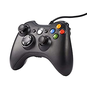 Gamepad für PC/Xbox 360,USB Gamepads Wired Plug Spies Verbessertes ergonomisches Design