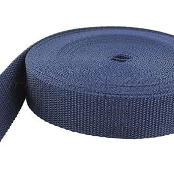 10m PP Gurtband - 25mm breit - 1,8mm stark - dunkelblau (UV)