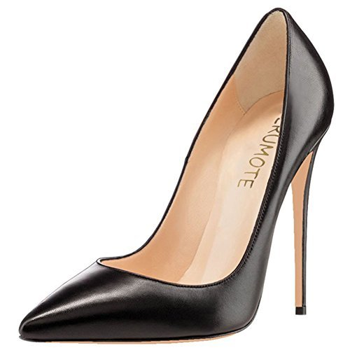 MERUMOTE , Chaussures à talon fin femme Black-Matte