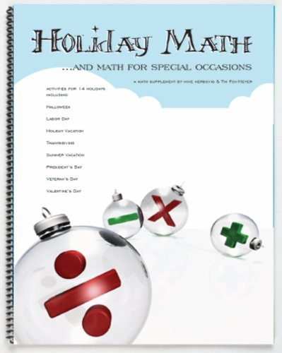 American Educational Urlaub Mathematik und Mathematik für besondere Anlässe Workbook (Urlaub Besonderen Anlass)