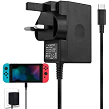 For Nintendo Switch Charger, AC Adapter for Nintendo Switch Fast Charger DC 15.0V/2.6A Power Adapter with 5ft USB Type C Charger Cord for Nintendo Switch Dock / Pro Controller and Support TV Mode