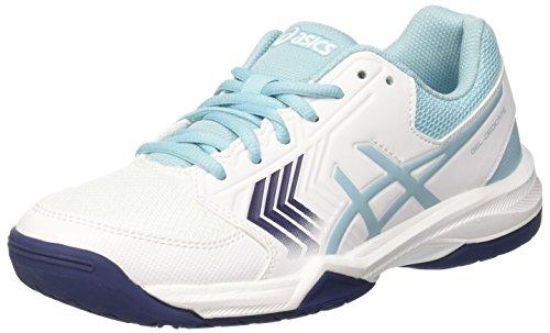 Asics Gel-Dedicate 5, Chaussures de Tennis Femme, Multicolore (Whiteporcelain Blueindigo Blue), 40 EU