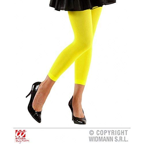 (Lively Moments Neonfarbene Leggings in Gelb 70 Den / 80er Jahre Kostüm Zubehör / Strumpfhose / Pantyhose)