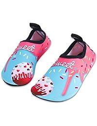 IceUnicorn Kids Beach Swim Shoes Toddler Barefoot Skin Aqua Socks Boys Girls Water Sport Shoes for Pool Garden Surf Yoga
