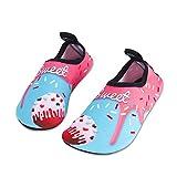 Kinder Badeschuhe Wasserschuhe Strandschuhe Schwimmschuhe Aquaschuhe Surfschuhe Barfuss Schuh für Jungen Mädchen Kleinkind Beach Pool(Rosa 24 25)