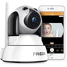 FREDI 720P IP Telecamera di Sorveglianza Wifi Wireless Camera Interno Telecamera wi-fi senza fill con Controllo Remoto, Audio Bidirezionale, Modalità Notturna a Infrarossi Videocamera di sorveglianza Camera Compatibile con iOS Android PC