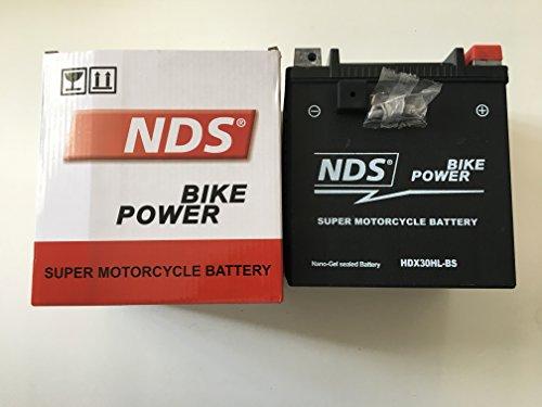 NDS HDX30HL-BS Batteria moto GEL per Harley Davidso