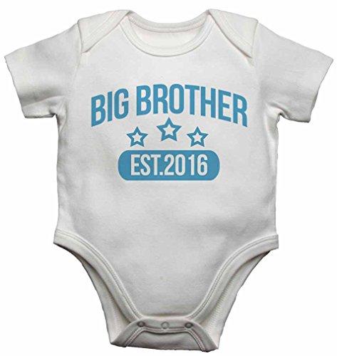 Big-brother-baby-strampelanzug (Big Brother Est. 2016-Baby Westen Bodys Baby wächst personalisierbar Graphic Print Design für Jungen-weiß-18-24Monate)