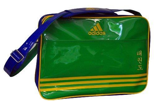 Adidas–Borsa Tracolla Taekwondo 46x 32x 19cm–adiacc110cs2, (Vert/bleu), L