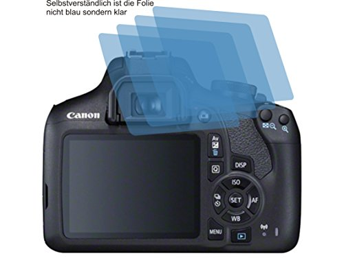 4x ANTIREFLEX matt Schutzfolie für Canon EOS 2000D Displayschutzfolie Bildschirmschutzfolie Schutzhülle Displayschutz Displayfolie Folie