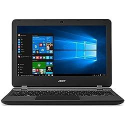 """Acer Aspire ES1-132-C1NP - Ordenador portátil DE 11.6"""" HD (Intel Celeron N3350, 4 GB RAM, 64 GB eMMc, Intel HD 500, Windows 10 S) Negro - Teclado QWERTY Español"""