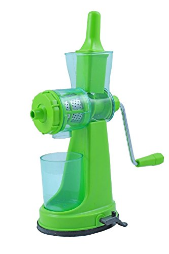 Kuber Industries™ Juicer, Fruit & Vegetable Juicer, Manual Hand Juicer, Fruit Juicer Handel Vacuum Base (green)-jui07