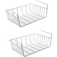 Pack de 2 cestas colgantes metálicas Urban Design, cesto para armarios de cocina, armarios roperos, estanterías, armarios de fregaderos