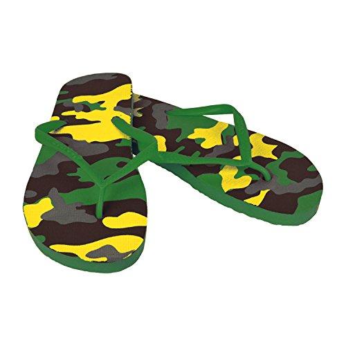 2073 Ciabatte infradito donna fantasia militare 4 colori pantofole mare in gomma. MWS Verde