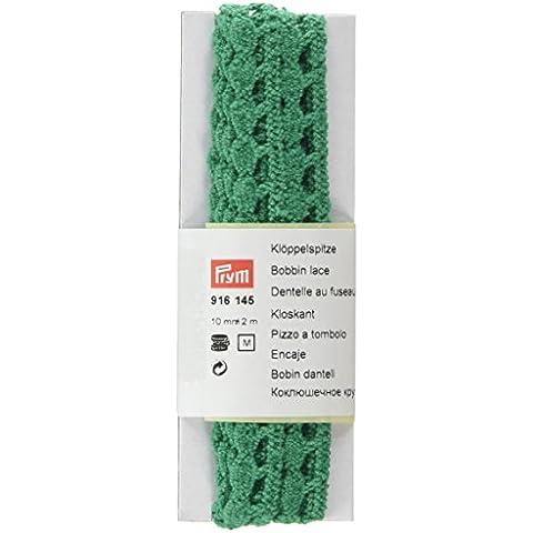 Prym–Bobble/bola Edge encaje plano, 100% algodón, verde, 10mm, 2m