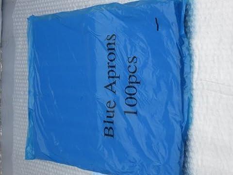 Blau Einweg- Schürze, 100er Pack - blau, Blau, 1 -