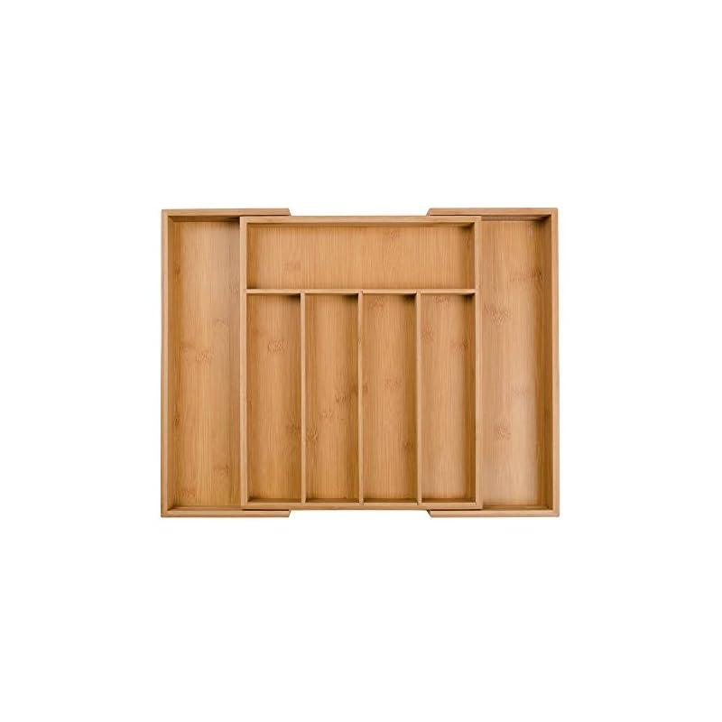 Bambus Erweiterbar Besteckkasten Schubladeneinsatz Organizer 5 Bis 7 Verstellbaren Fcher 485 X 37 X 5 Cm
