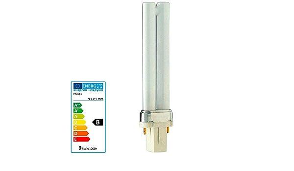 Philips Lampadina fluorescente compatta 7w PL-S 2 Pin 827 bianco molto caldo