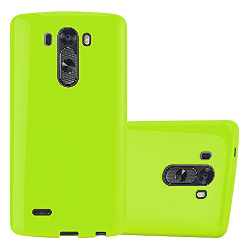 Preisvergleich Produktbild Cadorabo Hülle für LG G3 - Hülle in Jelly GRÜN – Handyhülle aus TPU Silikon im Jelly Design - Silikonhülle Schutzhülle Ultra Slim Soft Back Cover Case Bumper