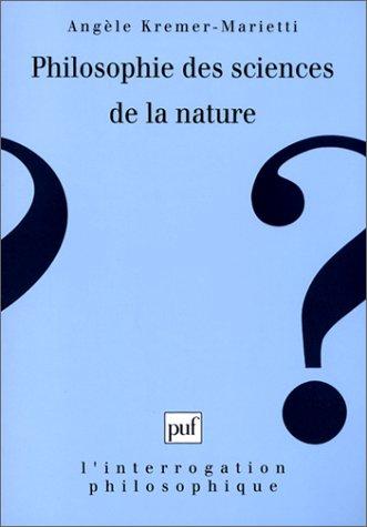 Philosophie des sciences de la nature