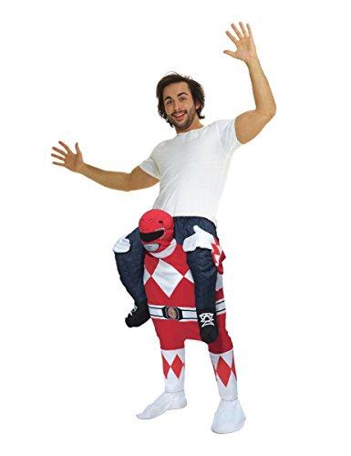 Morphsuits MCPBLPRRE - Power Rangers Klassisch Huckepack Kostüm - Uni Größe, - Ranger Red Power Halloween-kostüm