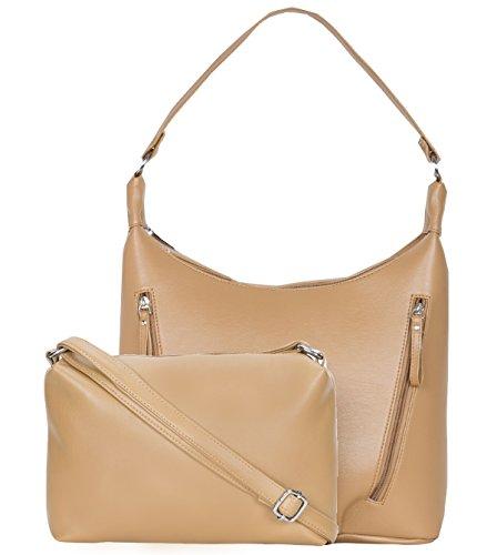 ADISA AD2019 beige women handbag with sling bag