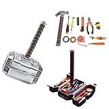 Luckyx Donner Hammer DIY Repair Tool Kit Mit Trennbaren Haushalt Multifunktionale Garten Thor Hammering Box Durable Crimpzange Kit Set Für Real Man Handwerkzeuge