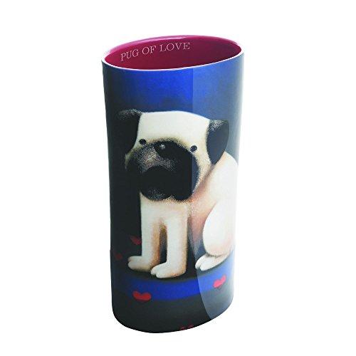 John Beswick Doug Hyde Pug Of Love Vase, Porcelain, Multi-Colour