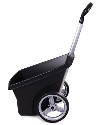 Ondis24 Transportkarre Zweirad Schubkarre Kunststoff Gartenkarre Trolley Carrellino 67 Liter